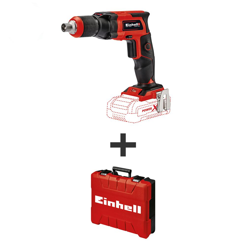 Einhell PXC 18-Volt Cordless 4000 RPM 1/4 inch Drywall Electric Screwdriver w/ E-Box Carry Case (Tool Only)