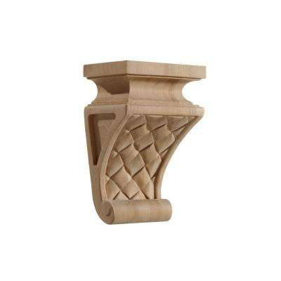 6 in. x 4 in. x 9 in. Cherry Medium Carved Transitions Corbel