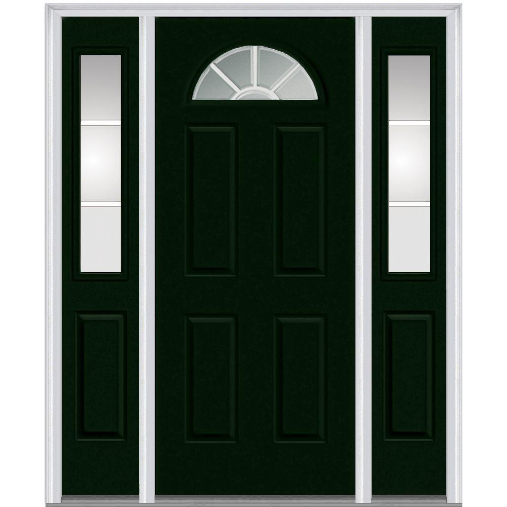 This Review Is From 60 In X 80 Internal Grilles Right Hand 1 4 Lite Clear Painted Fibergl Smooth Prehung Front Door With Sidelites