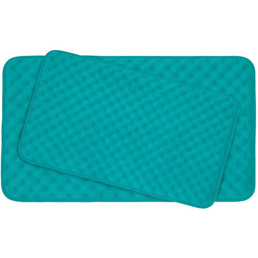 Bouncecomfort Massage Turquoise Memory Foam 2 Piece Bath