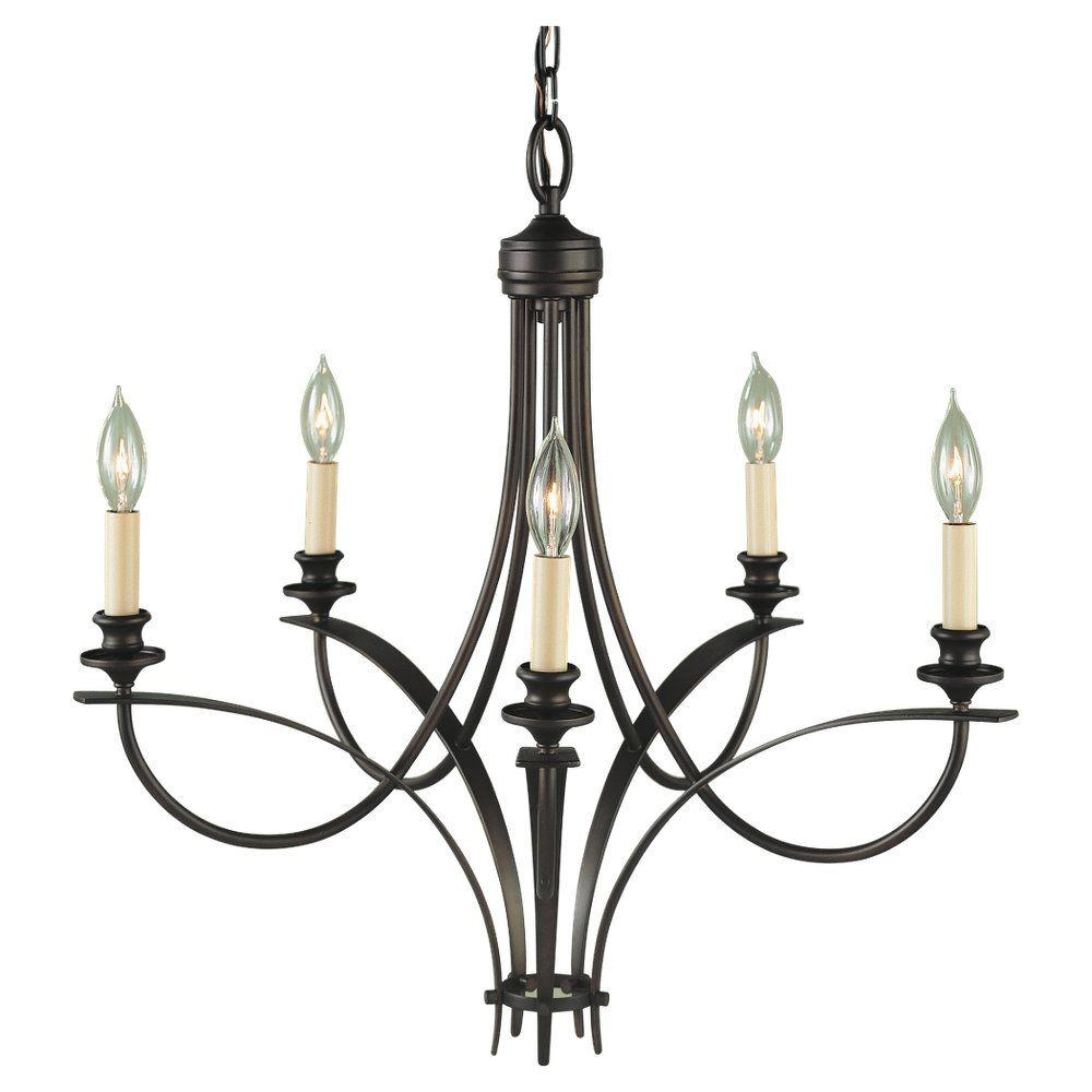 Feiss Boulevard 5-Light Oil Rubbed Bronze Single-Tier Chandelier