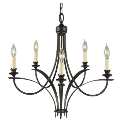 Boulevard 5-Light Oil Rubbed Bronze Single-Tier Chandelier