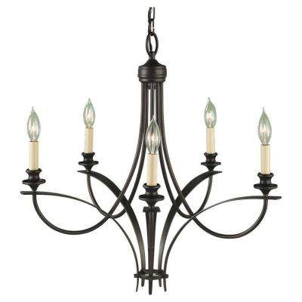 Boulevard 5-Light Oil Rubbed Bronze Single-Tier Chandelier