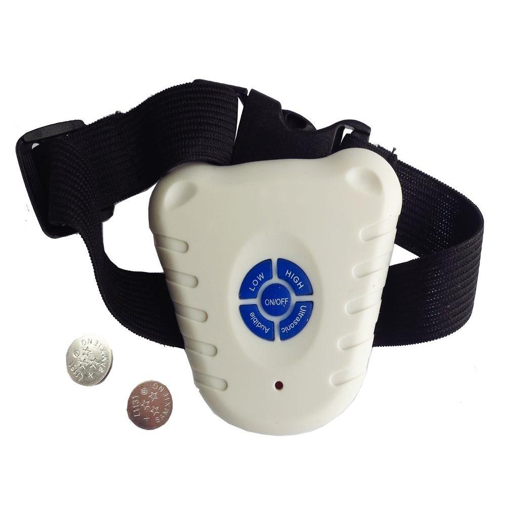 White Non-Shock Safe Anti-Bark Collar