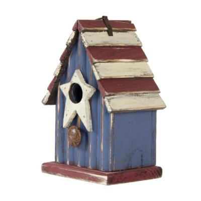 9.06 in. H Solid Wood Rustic Birdhouse