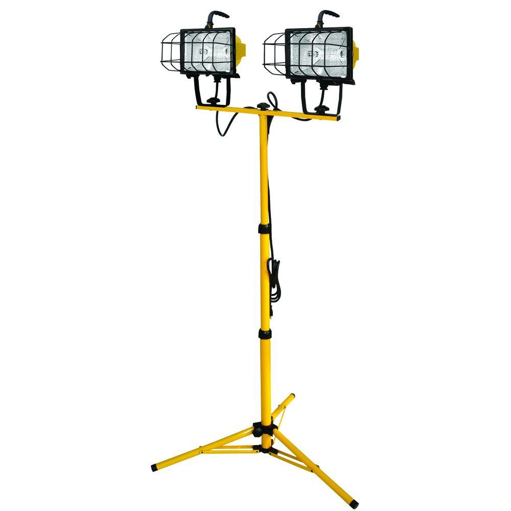 Craftsman 500 Watt Halogen Worklight: Voltec 1000-Watt Halogen Tripod Work Light-08-00211