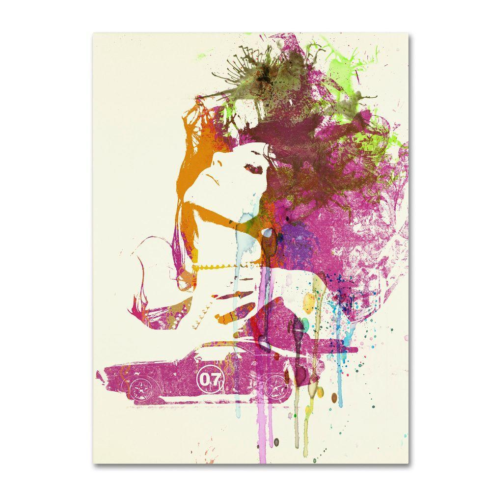 Trademark Fine Art 32 in. x 24 in. Challenger Girl Canvas Art