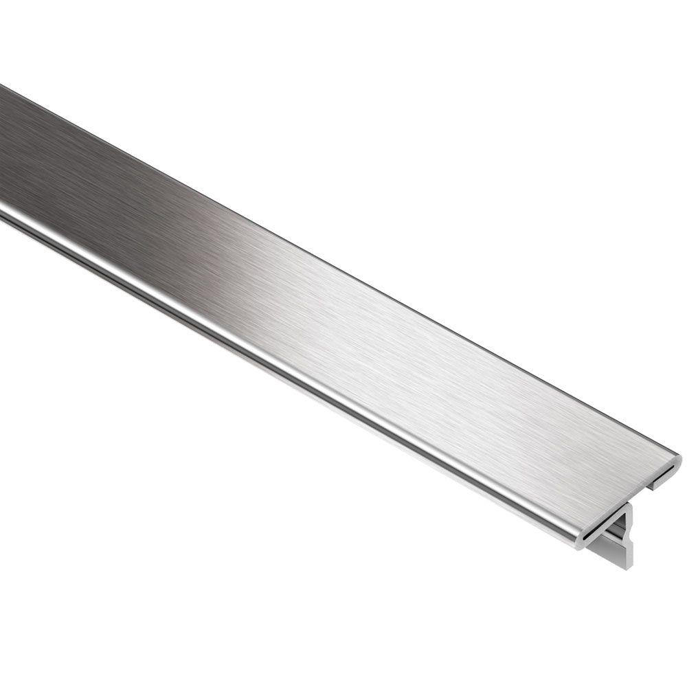 Schluter Reno-T Brushed Stainless Steel 1 In. X 8 Ft. 2-1