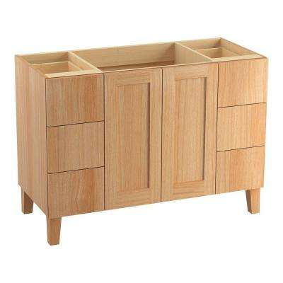 Poplin 48 in. Vanity Cabinet Only in Khaki White Oak