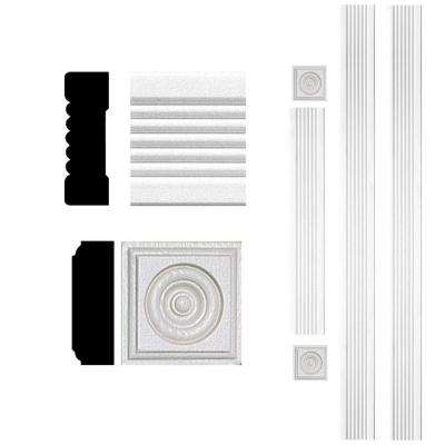 3/4 in. x 2-1/4 in. x 8 ft. MDF Fluted Door Casing Set