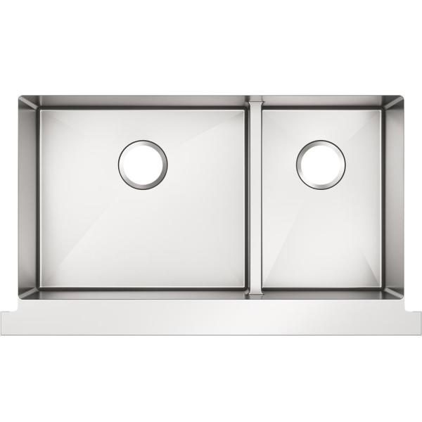 Kohler Tailor Farmhouse Apron Front Stainless Steel 35 5 In Double Bowl Kitchen Sink K 22570 Na The Home Depot