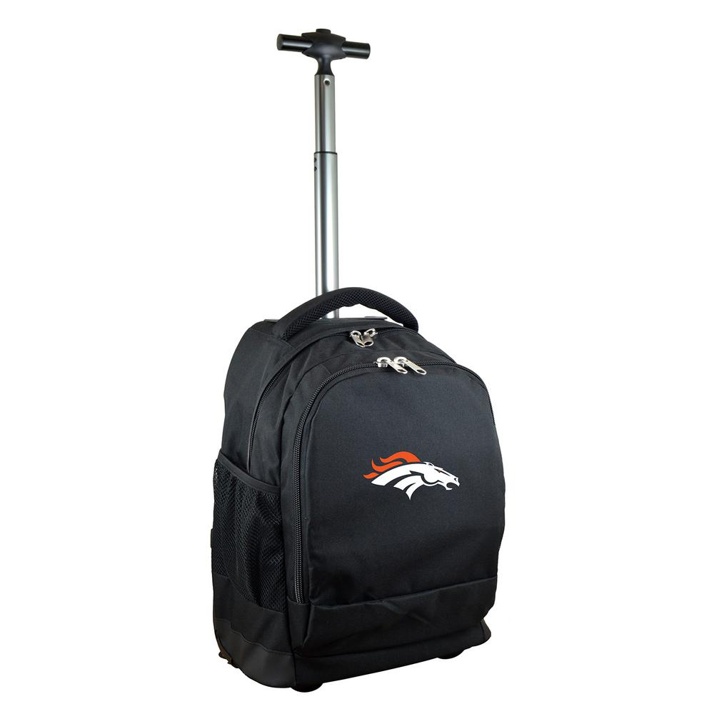 NFL Denver Broncos 19 in. Black Wheeled Premium Backpack