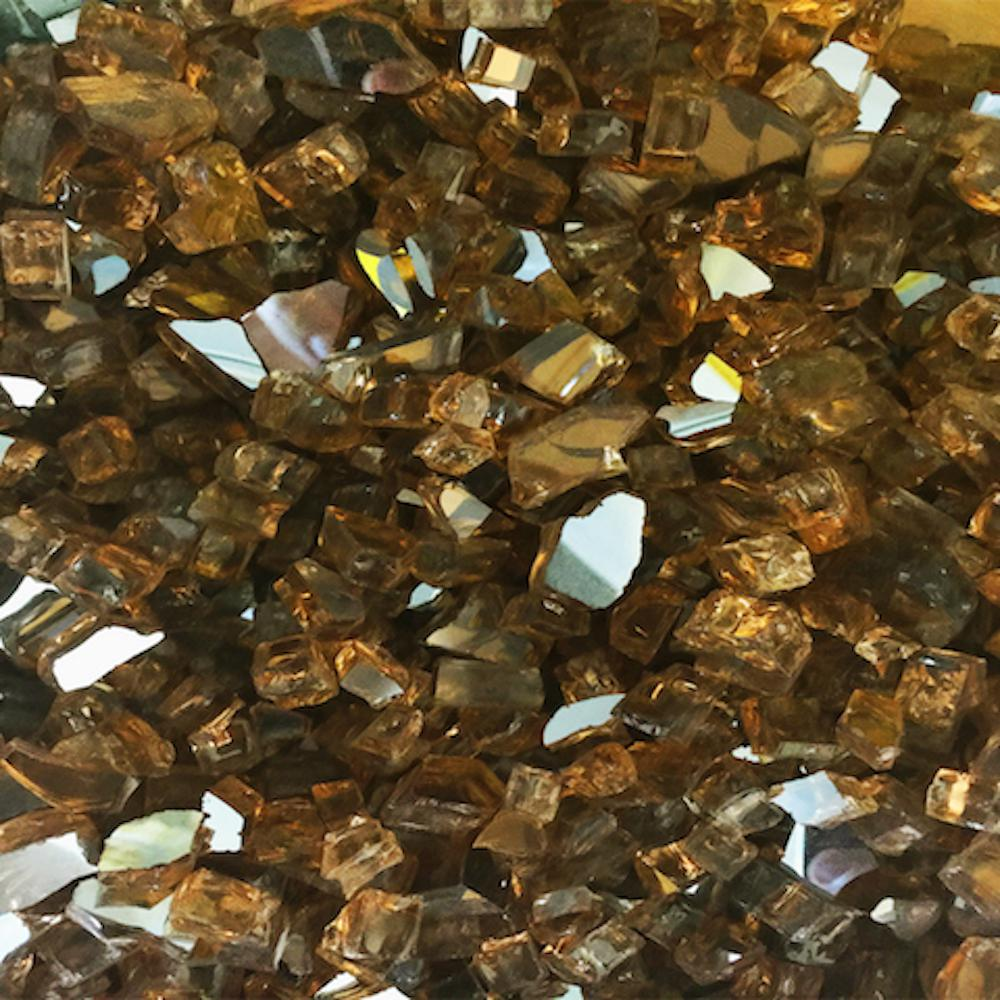 Element Fireglass Copper Reflective Fire Glass