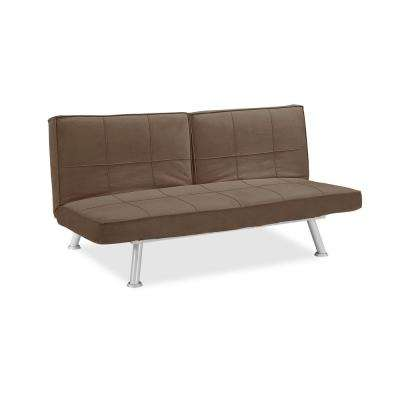 Maxine Microfiber Convertible Sofa with Square Stitching in Java