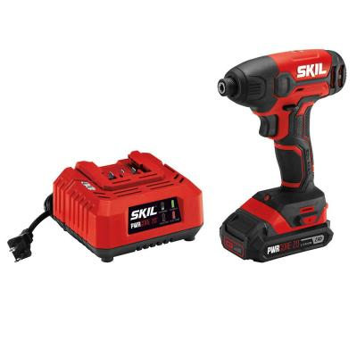 PWRCORE 20-Volt Lithium-Ion Cordless 1/4 in. Hex Impact Driver Kit