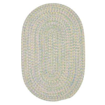 Dessi Pastel Multi 7 ft. x 9 ft. Braided Indoor/Outdoor Oval Area Rug