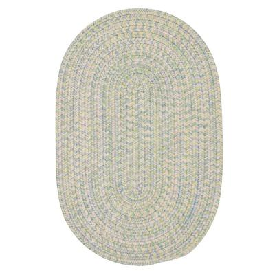 Dessi Pastel Multi 10 ft. x 10 ft. Round Braided Indoor/Outdoor Area Rug