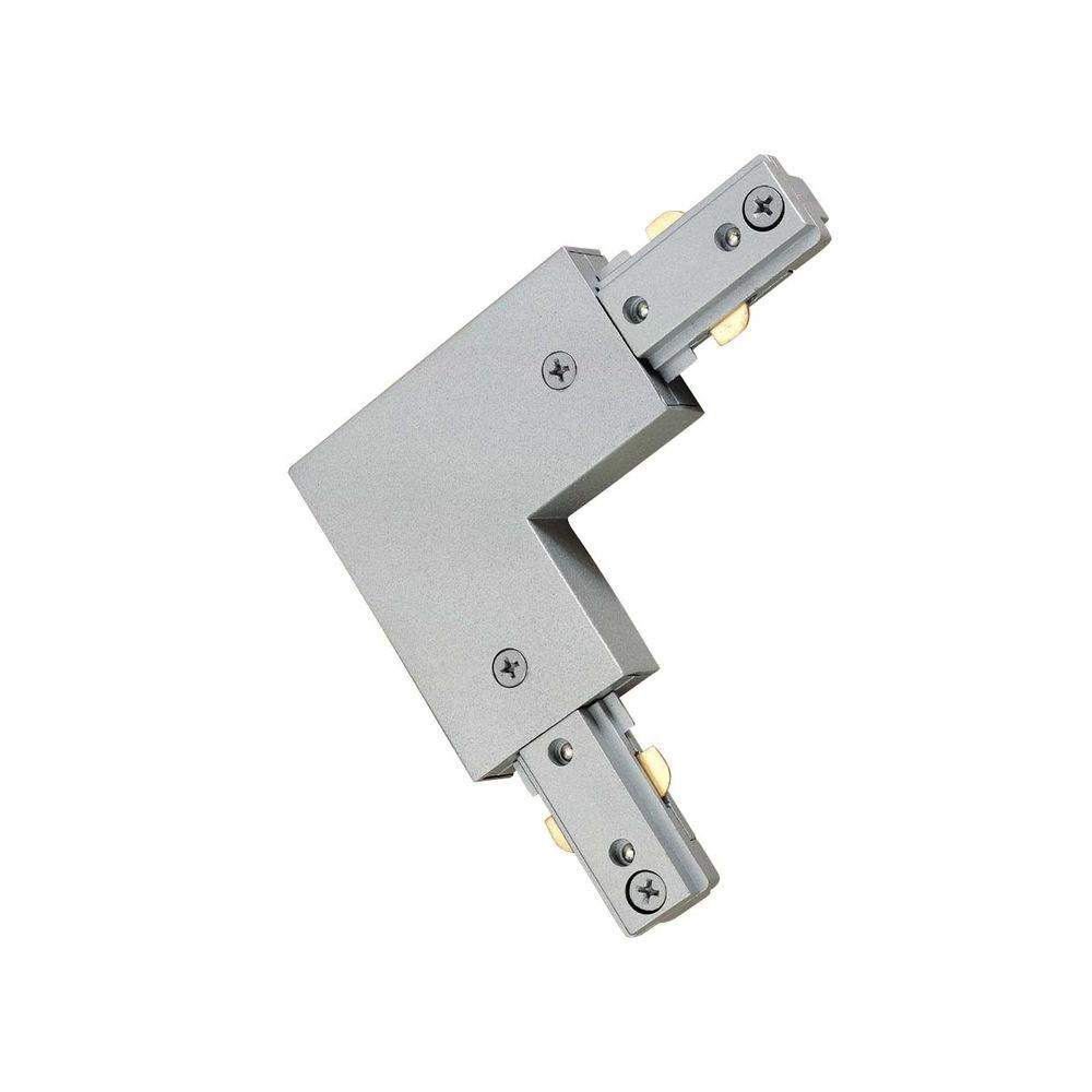 Hampton Bay 90 Degree Brushed Steel Linear Track Lighting L Connector