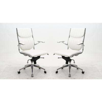 Ergonomic High Back Verdi White Office Chair (Set of 2)