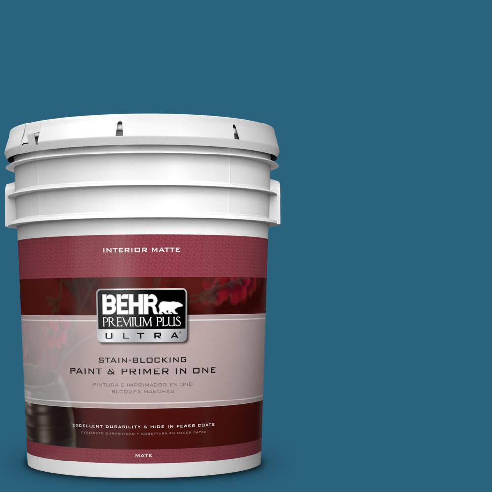 5 gal. #550D-7 Southern Evening Matte Interior Paint and Primer in