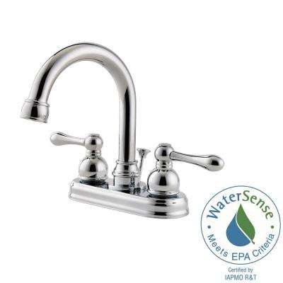 Wayland 4 in. Centerset 2-Handle Bathroom Faucet in Polished Chrome