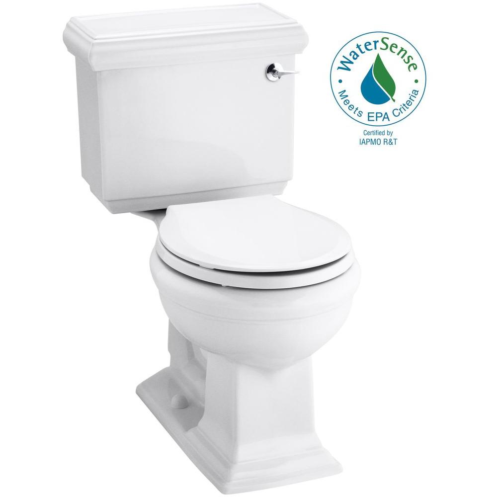 KOHLER Memoirs Classic 2-piece 1.28 GPF Single Flush Round Toilet in White