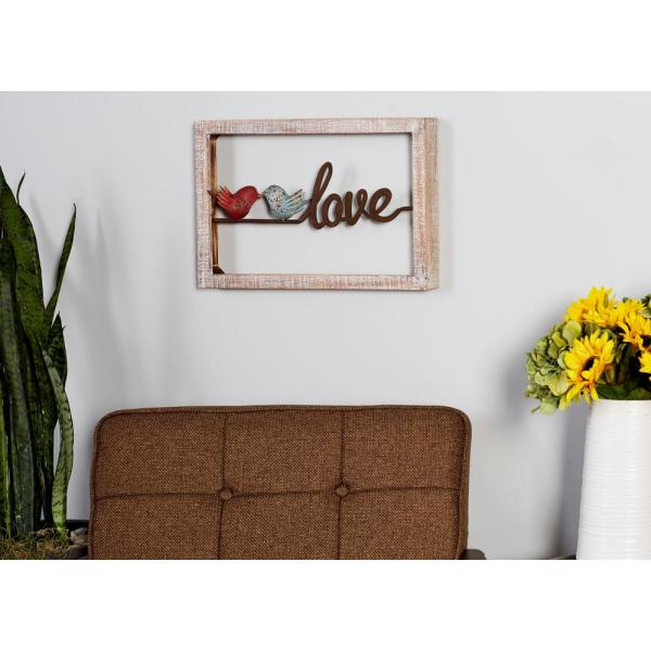 """Litton Lane 12 in. x 18 in. ''Home'' and """"Love"""" Framed"""