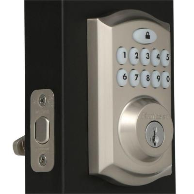 SmartCode 913 Satin Nickel Single Cylinder Electronic Deadbolt Featuring SmartKey Security