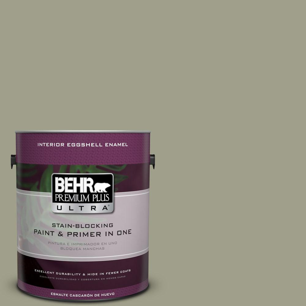 1-gal. #BXC-82 Potting Moss Eggshell Enamel Interior Paint