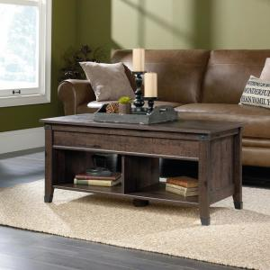 Coffee Table Extendable.Sauder Carson Forge Coffee Oak Extendable Coffee Table 420421 The