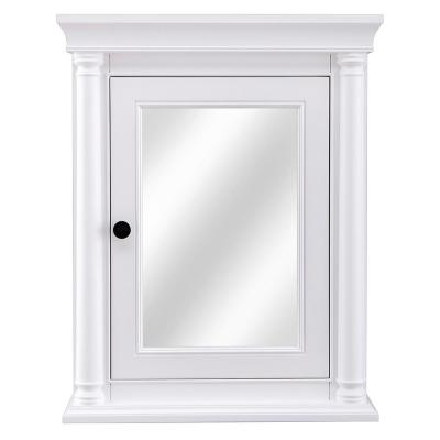 Strousse 24 in. W x 30 in. H Surface Mount Mirrored Medicine Cabinet in White
