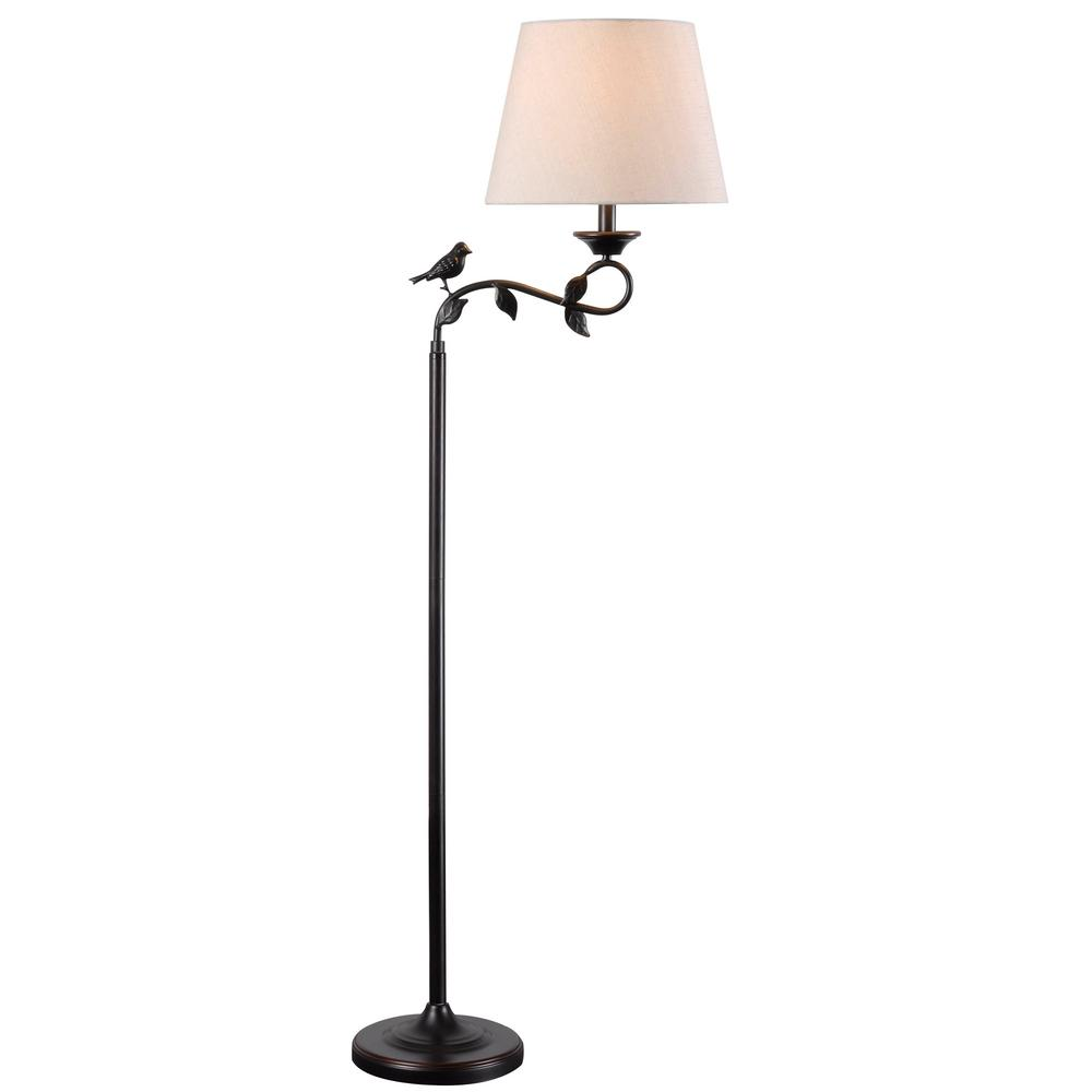 Kenroy Home Birdsong 60 In 1 Light Bronze Swing Arm Floor Lamp With