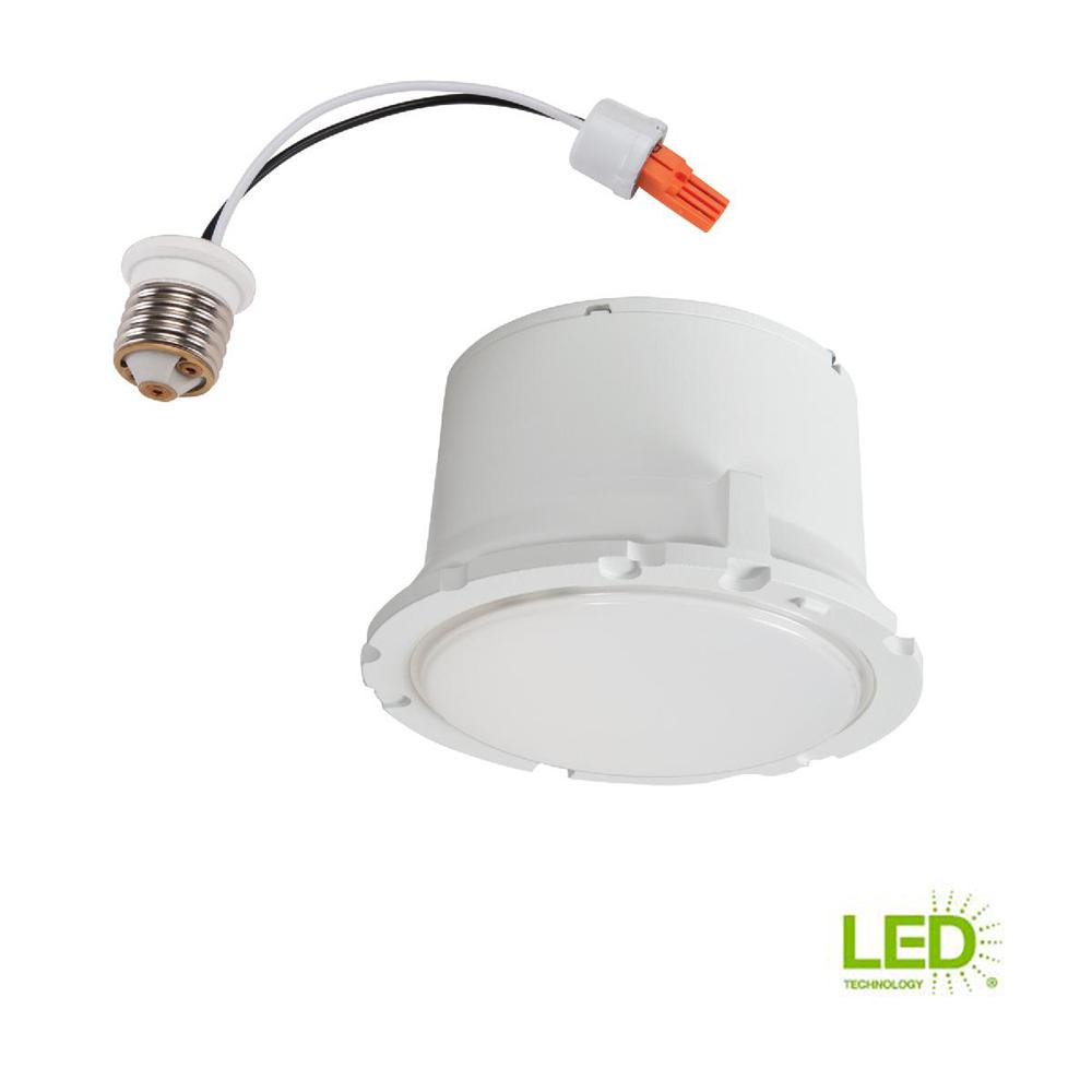 halo 5 in and 6 in white integrated led recessed trim module