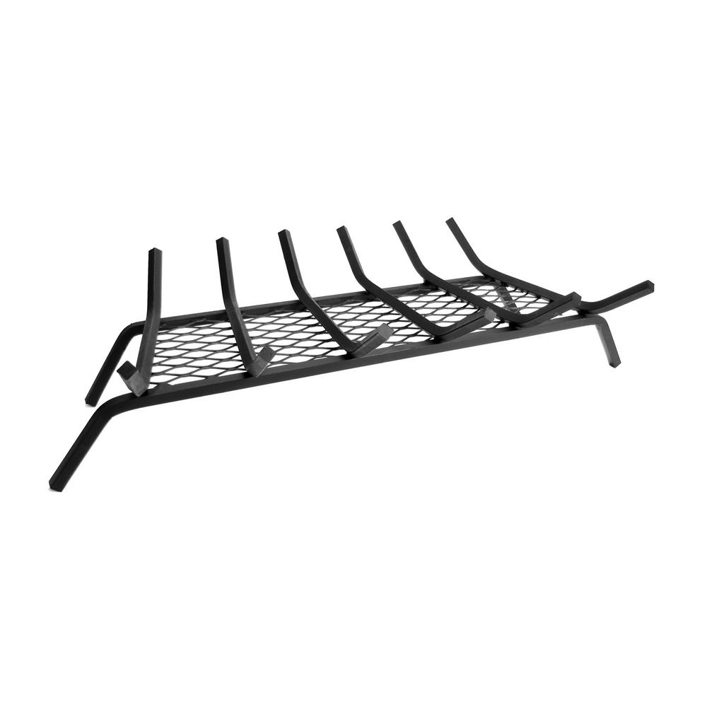 Pleasant Hearth 1/2 in. 30 in. 6-Bar Steel Fireplace Grate with Ember Retainer