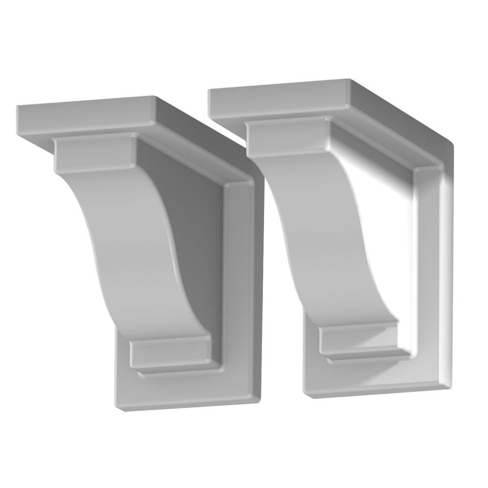 Yorkshire White Vinyl Decorative Brackets 2 Pack