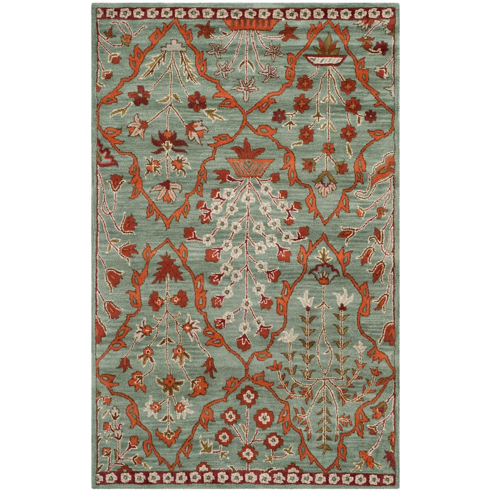 Safavieh Wyndham Blue Rust 4 Ft X 6 Area Rug