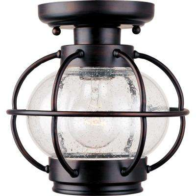 Portsmouth Oil-Rubbed Bronze Outdoor Flushmount