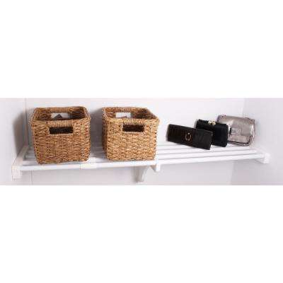 40 in. - 73 in. Metal Expandable Shelf in White