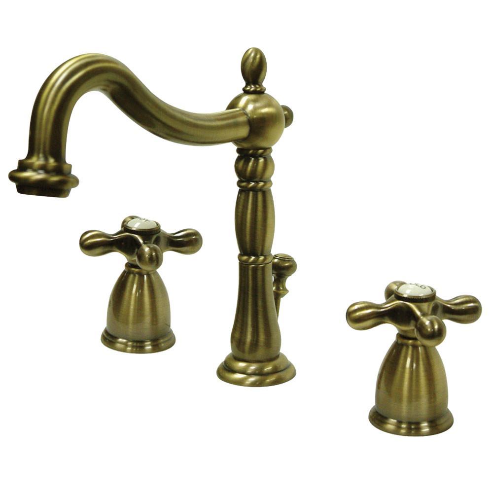 Kingston Brass Victorian Cross 8 in. Widespread 2-Handle Bathroom ...