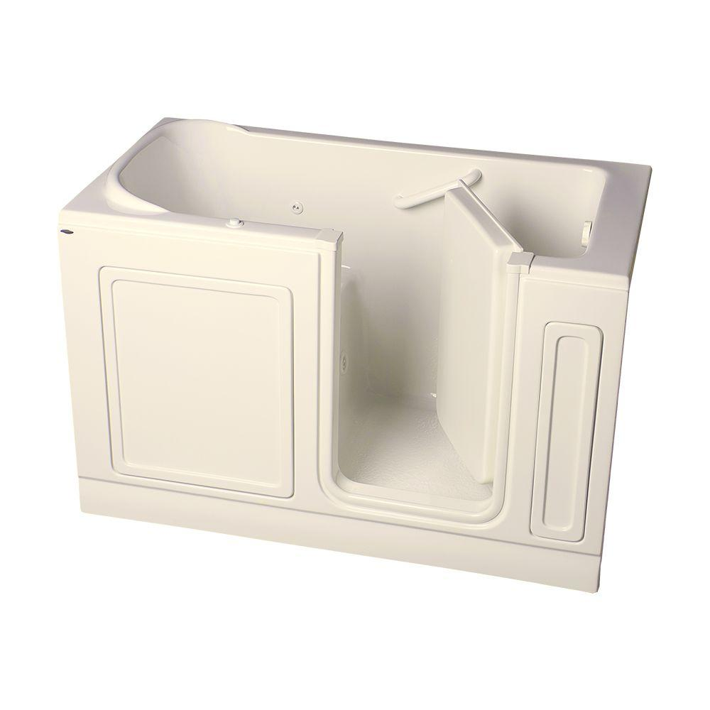 American Standard Acrylic Standard Series 60 in. x 32 in. Walk-In Whirlpool Tub in Linen