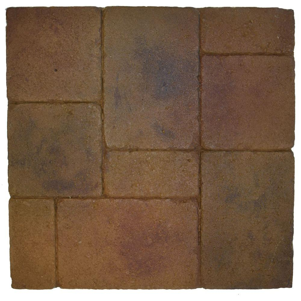 Thin Pavers Home Depot Monterey Chardonnay 18 Inx 18 Inthin Overlay Paver 4Pieces9