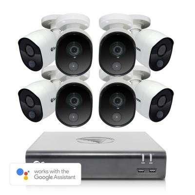 8-Channel 1080p 1TB DVR Surveillance System with 8 PIR Wired Bullet Cameras