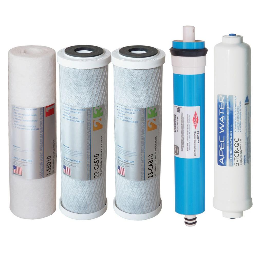 apec water systems ultimate complete replacement filter set for 5 stage 20 to 45 gpd reverse. Black Bedroom Furniture Sets. Home Design Ideas