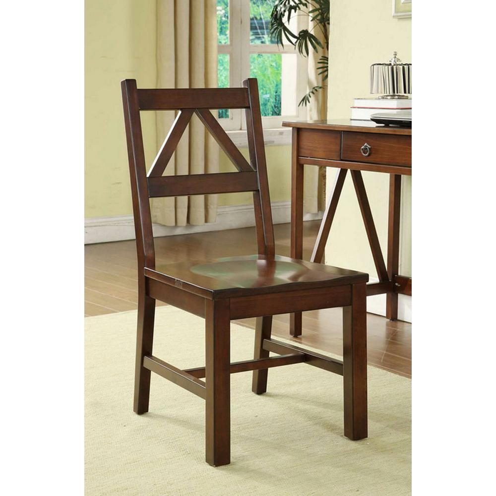 Linon Home Decor Titian Antique Tobacco Side Chair