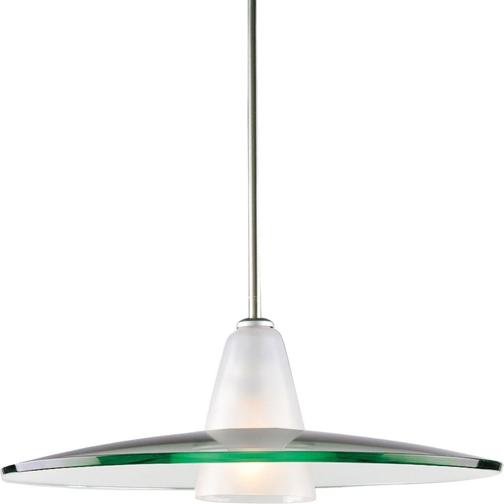 Progress Lighting 1-Light Brushed Nickel Pendant