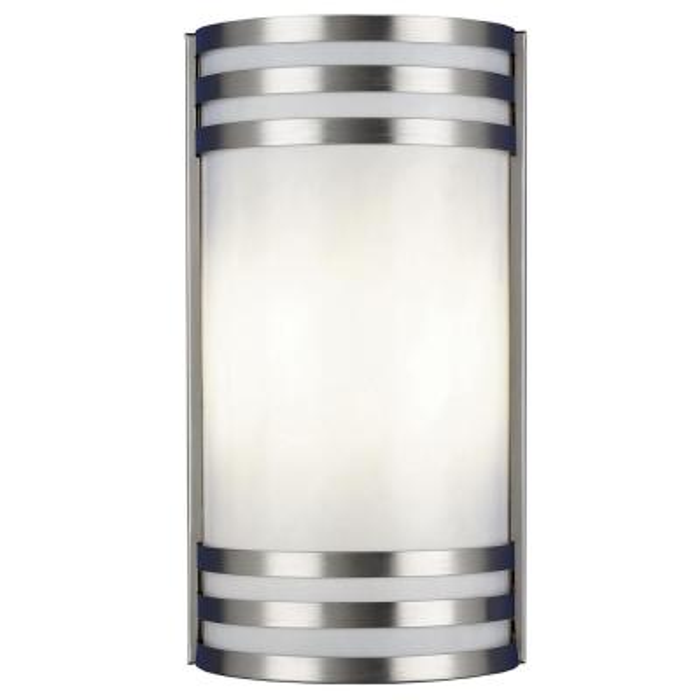 Trillium 2-Light Satin Nickel Outdoor Wall Mount Sconce