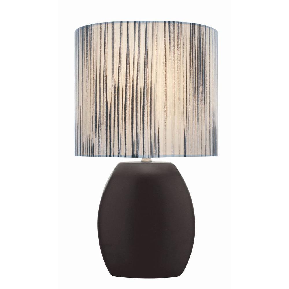 Designer 17 in. Black Table Lamp