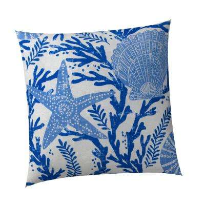 Coral Reef Square Outdoor Throw Pillow