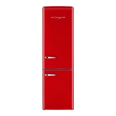 Retro 21.6 in. 9 cu. ft. Bottom Freezer Refrigerator in Candy Red, ENERGY STAR