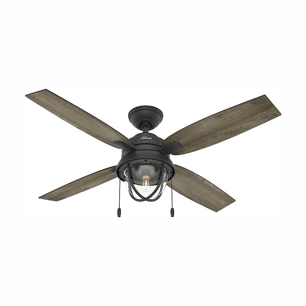 Hunter Barnes Bay 52 In Led Indoor Outdoor Natural Iron Ceiling Fan With Light Kit